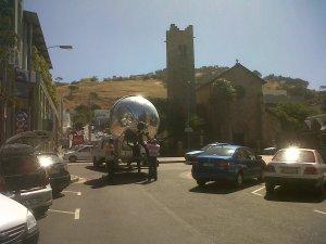 Giant mirror ball