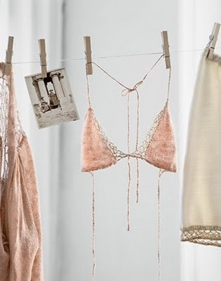 clothesline and pretty underwear