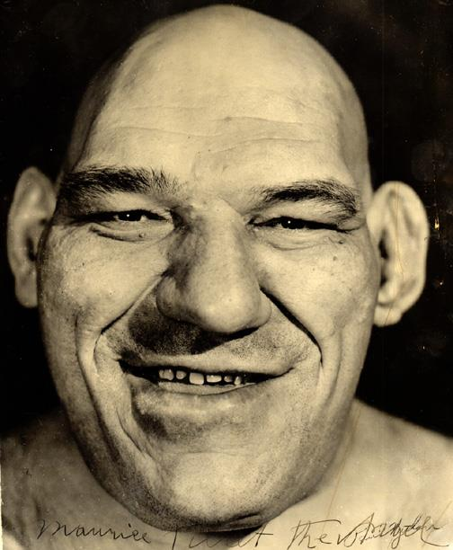Maurice Tillet, a wrestler suffering from acromegaly. He died in 1954, and was the inspiration for the Shrek movies.
