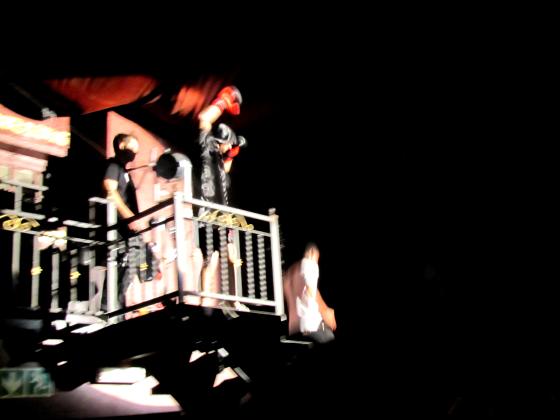 Shaun 'The Black Sheep' Clarke entering the ring.